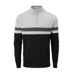 Oscar Jacobson Windsor half zip sweater